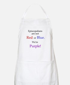 Episco-Purple BBQ Apron