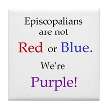 Episco-Purple Tile Coaster