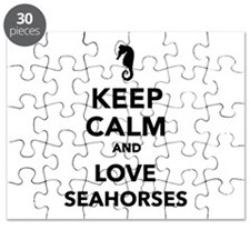 Keep calm and love seahorses Puzzle