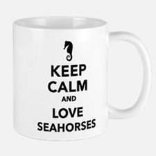 Keep calm and love seahorses Mug