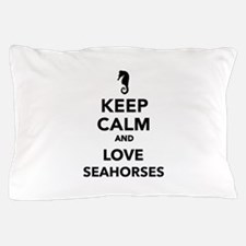 Keep calm and love seahorses Pillow Case