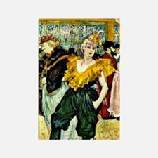 Toulouse-Lautrec - At the Moulin  Rectangle Magnet