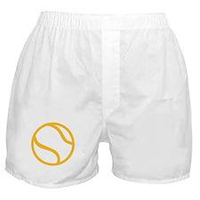 Yellow tennis ball icon Boxer Shorts