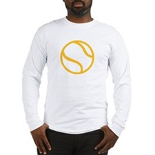 Yellow tennis ball icon Long Sleeve T-Shirt