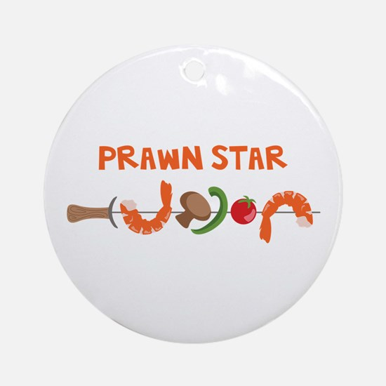 Prawn Star Ornament (Round)