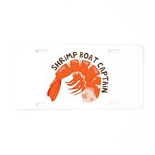 Shrimp Boat Captain Aluminum License Plate