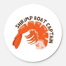 Shrimp Boat Captain Round Car Magnet
