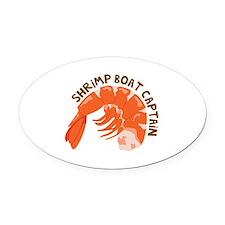 Shrimp Boat Captain Oval Car Magnet