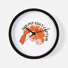 Shrimp Boat Captain Wall Clock