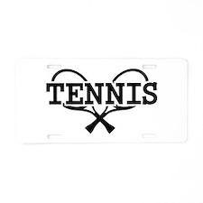 Tennis rackets Aluminum License Plate