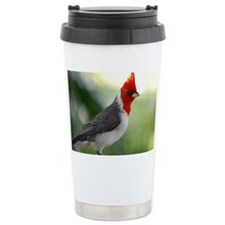 Red Crowned Cardinal Travel Mug