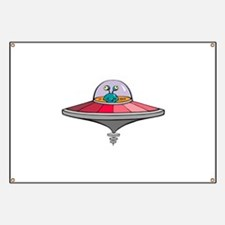 Alien Saucer Banner