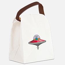 Alien Saucer Canvas Lunch Bag