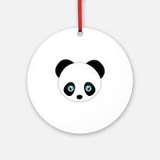 Panda Bear Head Ornament (Round)
