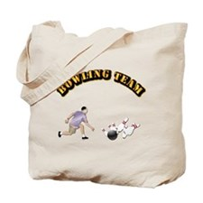 Sports - Bowling Team Tote Bag