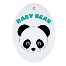 Baby Bear Ornament (Oval)