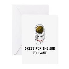 Astronaut Dress Greeting Cards