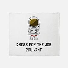 Astronaut Dress Throw Blanket