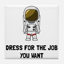 Astronaut Dress Tile Coaster