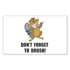 Beaver Brush Decal