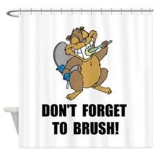 Beaver Brush Shower Curtain