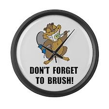 Beaver Brush Large Wall Clock