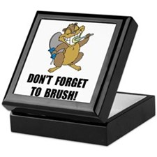 Beaver Brush Keepsake Box