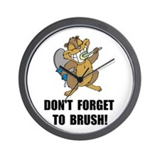 Beaver Brush Wall Clock