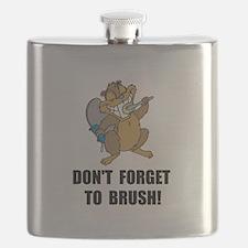 Beaver Brush Flask