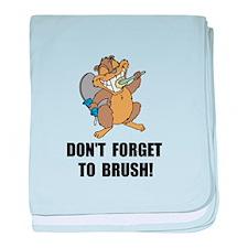 Beaver Brush baby blanket