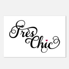 Très chic, French word art, text design Postcards