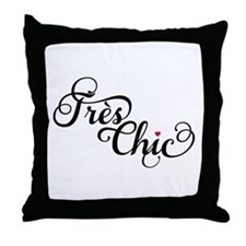 Très chic, French word art, text design Throw Pill