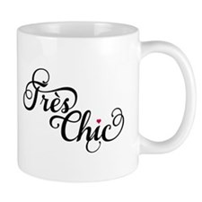 Très chic, French word art, text design Mugs