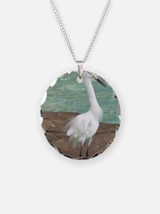 White Egret Necklace