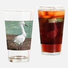 White Egret Drinking Glass