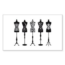 Vintage fashion mannequins Decal