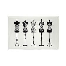Vintage fashion mannequins Magnets