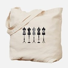 Vintage fashion mannequins Tote Bag