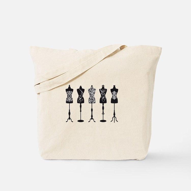 Vintage fashion mannequins Tote Bag