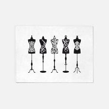 Vintage fashion mannequins 5'x7'Area Rug