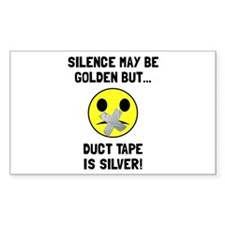 Duct Tape Silver Decal