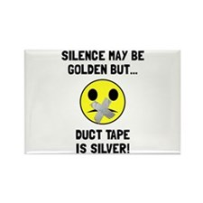 Duct Tape Silver Magnets