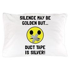 Duct Tape Silver Pillow Case
