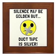 Duct Tape Silver Framed Tile