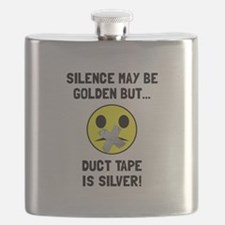 Duct Tape Silver Flask