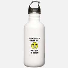 Duct Tape Silver Water Bottle