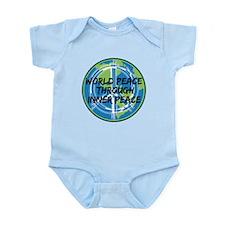 World Peace Through Inner Peace Infant Bodysuit
