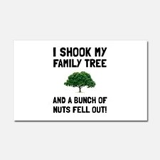 Family Tree Nuts Car Magnet 20 x 12