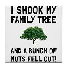 Family Tree Nuts Tile Coaster