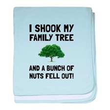 Family Tree Nuts baby blanket